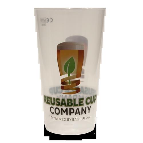 Reusable Festival Pint Cup With Reusable Logo Artwork