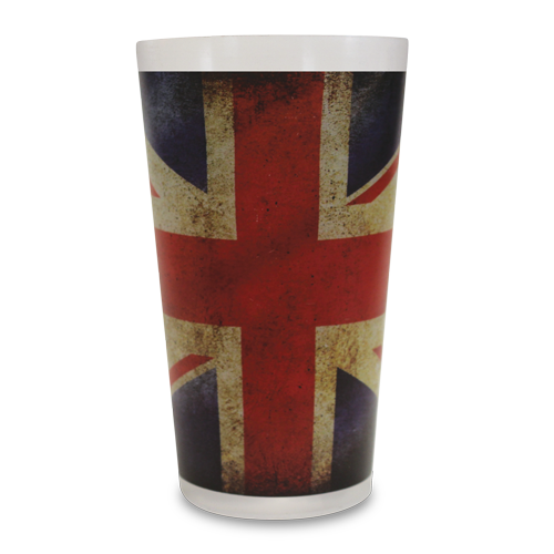Reusable Festival Pint Cup With Union Jack Art Work