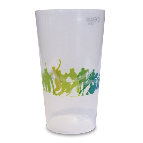 Reusable Base-Flow Half Pint Cup All Sports Artwork