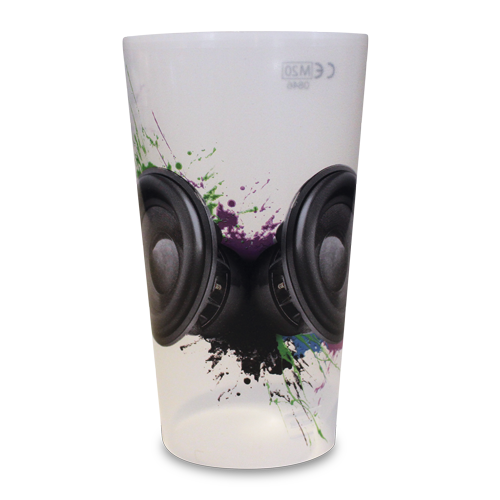 Reusable Festival Half Pint Cup Big Sounds Artwork