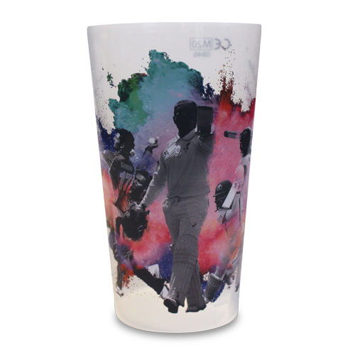 Reusable Base-Flow System Pint Cup Cricket Glory Artwork