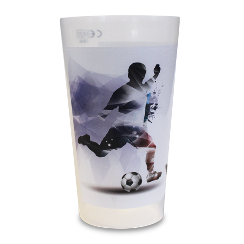 Reusable Base-Flow System Half Pint Cup Football Glory Artwork