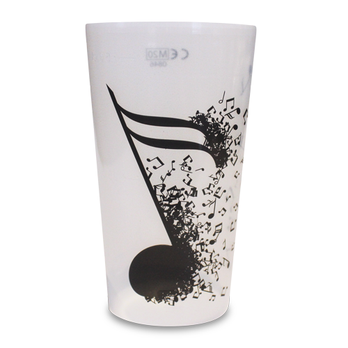 Reusable Festival Pint Cup New Music Artwork