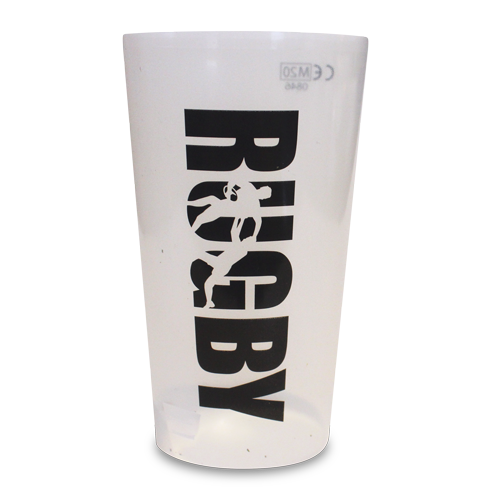 Reusable Festival Pint Cup Rugby