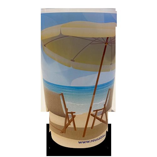 Reusable Festival Pint Cup On The Beach